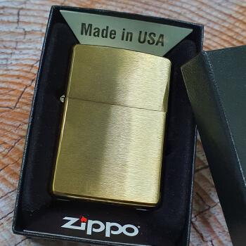 ZIPPO Brushed Brass 204B зажигалка