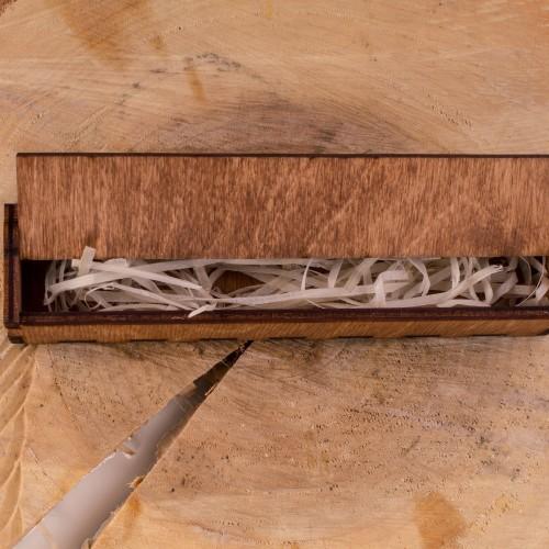 Коробочка деревянная для ручки